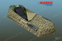 Тент-чехол, зеленый камыш для лодок Зверобой-2