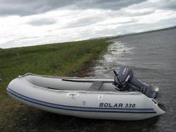 Надувная лодка Solar СОЛАР 330 светло-серый